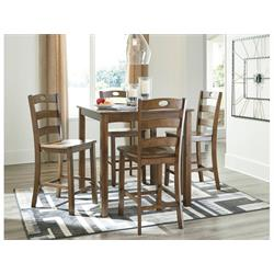ASHLEY 5PC COUNTER HEIGHT DINETTE (HAZELTEEN) D419-223 Image